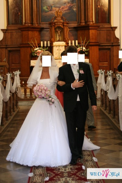 Suknia ślubna HERM Lirista koronka tiul tren 2