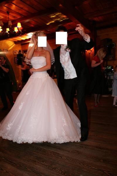 Suknia ślubna HERM Lirista koronka tiul tren 4